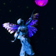 Genie And The Moon Art Print