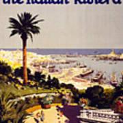 Genoa And The Italian Rivera Vintage Poster Restored Art Print