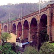 Genoa Railroad Bridge Art Print