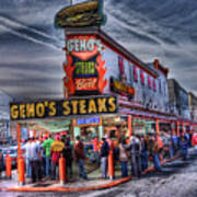 Geno's Cheesesteaks Art Print