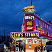 Geno's Steaks South Philly Art Print