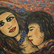 Gentle Loving Kiss Art Print