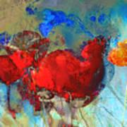 Gentle Poppies Art Print