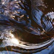 Gentle River Ripple-1 Art Print