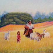 Gentle Shepherdess Art Print