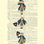Gentlemen Taking A Bow Dressed As Napoleon Bonaparte Art Print