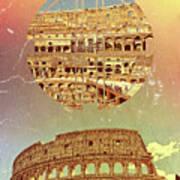 Geometric Colosseum Rome Italy Historical Monument Art Print