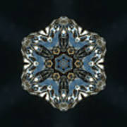 Geometric Glass Reflection Art Print
