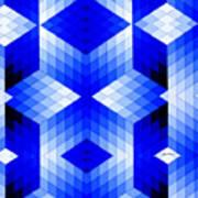 Geometric In Blue Art Print