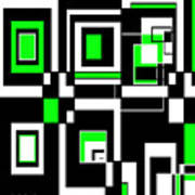 Geometric Pizazz 4 Art Print