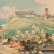 Georg Geyer 1823   Wien   1912   Burg Brandzoll In Tirol Art Print