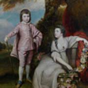 George Capel, Viscount Malden, And Lady Elizabeth Capel Art Print