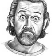 George Carlin Art Print