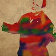 George Constanza Of Seinfeld Watercolor Portrait Art Print