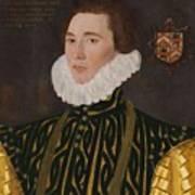 George Gower Portrait Of Thomas Slingsby 1556  1579 1577 Art Print
