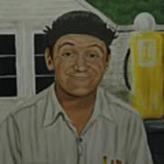 George Lindsey As Goober Art Print by Tresa Crain