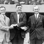 George Sisler - Babe Ruth And Ty Cobb - Baseball Legends Art Print by International  Images