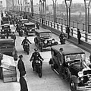 George Washington Bridge Open Art Print
