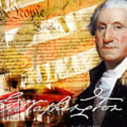George Washington Father Of Our Country Art Print