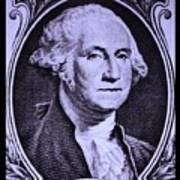 George Washington In Light Purple Art Print
