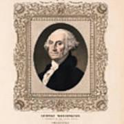 George Washington - Vintage Color Portrait Art Print