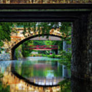 Georgetown Canal Bridges Art Print