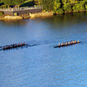 Georgetown Crew On The Potomac? Art Print