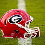 Georgia Bulldogs Football Helmet Art Print by Replay Photos