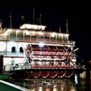 Georgia Queen Riverboat On The Savannah Riverfront Art Print