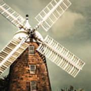 Georgian Stone Windmill  Art Print
