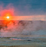 Geothermal Sunrise Art Print