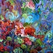 Geranium Garden Art Print