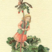 Geranium Girl Art Print