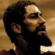 Gerard Butler  In 300 Art Print