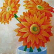 Gerbera Daisies Art Print