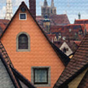 German Rooftops Art Print