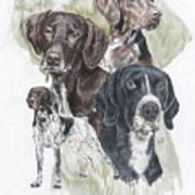 German Shorted-haired Pointer Revamp Art Print