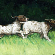 German Shorthaired Pointer Pups Art Print