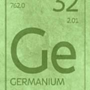 Germanium Element Symbol Periodic Table Series 032 Art Print