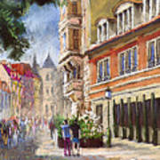 Germany Baden-baden Lange Str Art Print