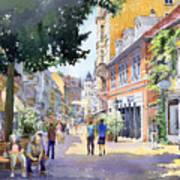 Germany Baden-baden Lange Strasse Art Print by Yuriy  Shevchuk