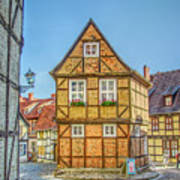 Germany - Half-timbered Houses And Alleys In Quedlinburg Art Print