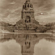 Germany - Monument To The Battle Of The Nations In Leipzig, Saxony, In Sepia Art Print