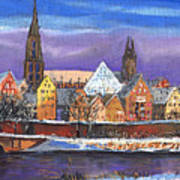 Germany Ulm Panorama Winter Art Print