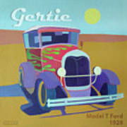 Gertie Model T Art Print by Evie Cook