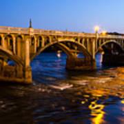Gervais Street Bridge At Twilight Art Print