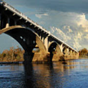 Gervais Street Bridge, Columbia, Sc Art Print