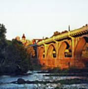 Gervais Street Bridge Upstream  Art Print