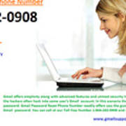 Get Solution For Gmail Support Service Number 1-844-202-0908 Art Print