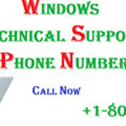Get Technical Support For Windows Art Print